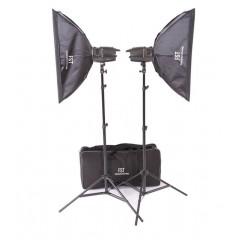 Импульсный свет комплект FST E-180 Softbox KIT