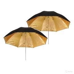 Зонт NiceFoto золотой на отражение 102 см