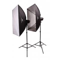 Импульсный свет комплект FST F-400 Softbox Kit