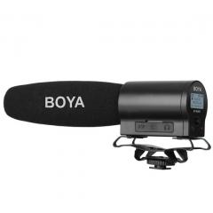 BY-DMR7 Микрофон пушка с интегрированным флэш-рекордером для DSLR камер и видеокамер