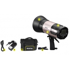 Аккумуляторный моноблок NiceFoto N4 TTL-M + синхронизатор TX-N02 (TTL режим, 400 Дж. для Nikon)