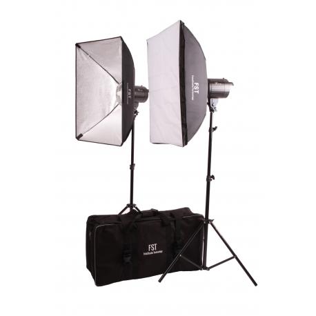 Комплект импульсного света FST F-200 SoftBox Kit