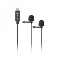 Boya BY-M3D Двойной петличный микрофон с разъёмом USB Type-C