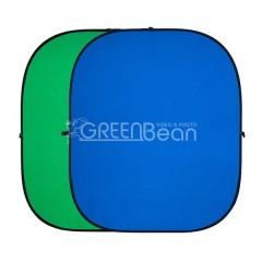 Двухсторонний тканевый фон хромакей GreenBean Twist 240 х 240 B/G