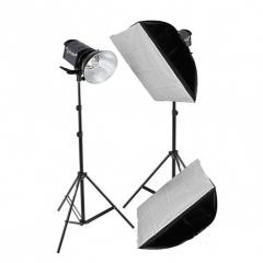 Комплект QL-500 Heat SS Kit набор галогенных осветителей с софтбоксами