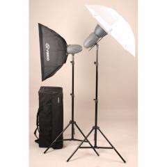 Visico VL PLUS 200 Soft Box/ Umbrella KIT комплект импульсного света