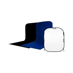 Visico BP-026 складной черный/белый/синий фон с пологом 1,5х1,8х2 м
