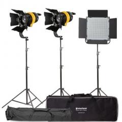 Комплект LED осветителей Starison 1200S + 500A с линзой Френеля