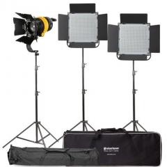 Комплект LED осветителей Starison 1800S (900S x2) + 500D с линзой Френеля