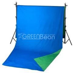 Двухсторонний тканевый фон хромакей GreenBean Field 240 х 500 B/G