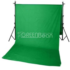 Зеленый тканевый фон хромакей GreenBean Field 300 х 700 Green