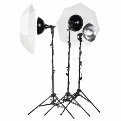 КОМПЛЕКТАЦИЯ Осветитель LUMIFOR MACRO с цоколем Е27, питание 220В, 50Гц – 3 шт. Студийный рефлектор 300 мм LFM-12 – 3 шт. Галоге