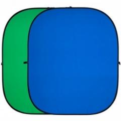 Фон складной FST BP-025 зеленый/синий 100х150